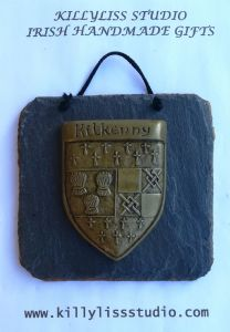 County Kilkenny crest slate wall plaque